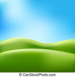 Vector abstract summer background meadow blue sky