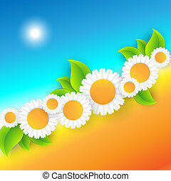 Vector abstract summer time background with copy space. Eps10