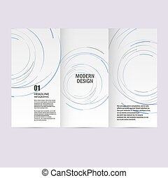 Vector abstract swirl set. Design background