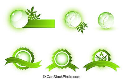 Vector abstract symbols