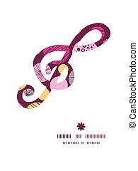 Vector abstract textured bubbles g clef musical silhouette pattern frame
