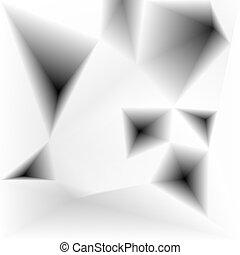 Vector abstract triangular holes monochrome background -...