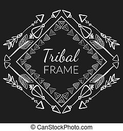 Vector Abstract Tribal Frame