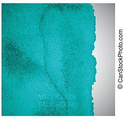 vector abstract turquoise watercolor background for your...