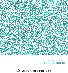 Vector abstract underwater plants horizontal frame seamless pattern background graphic design
