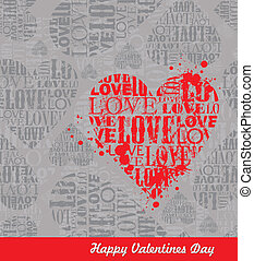 Vector abstract Valentines seamless background