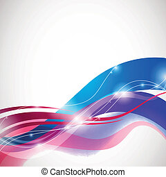 Vector Abstract Wave Design