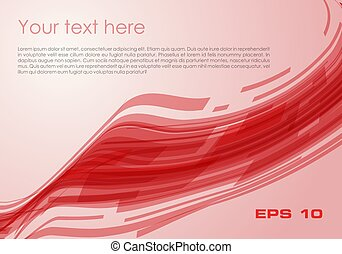 Vector abstract wave rectangle background in red color