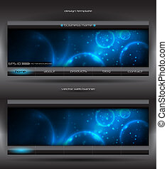 vector abstract web banner