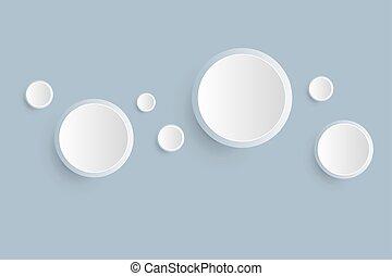 white blank button