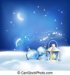 Vector Abstract Winter Night Background - Vector abstract ...