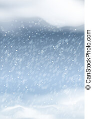 Vector Abstract Winter Snowfall Background - Vector abstract...