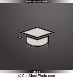 Vector academic cap web icon