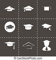 Vector academic icon set