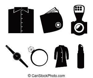 Vector accessories icon set