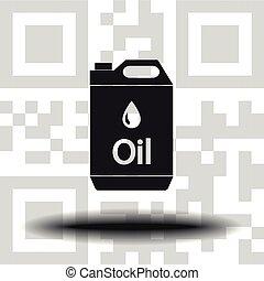 vector, aceite, jerrycan, icono