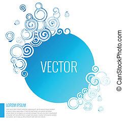vector, achtergrond, abstract, blauwe , cirkel