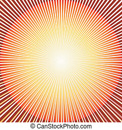 (vector), achtergrond, abstract, rood, zonnestraal