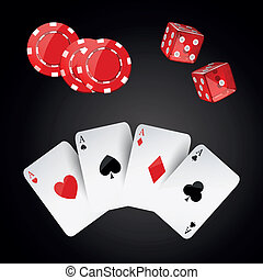 vector, achtergrond, casino