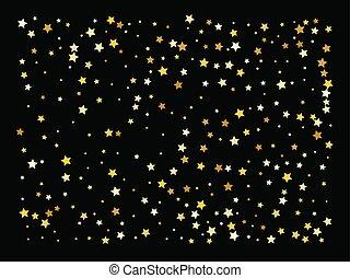 vector, achtergrond, goud, sterretjes