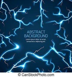 vector, achtergrond, lightning