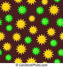 vector, achtergrond., model, donker, coronavirus, seamless