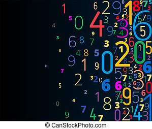vector, achtergrond, van, getallen