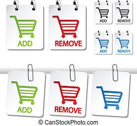 Vector add delete shopping cart