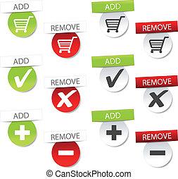 Vector add delete shopping cart item