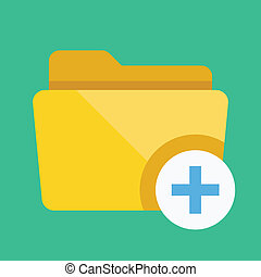 Vector Add Folder Icon
