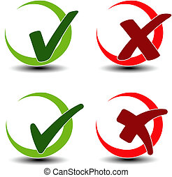 add remove circular item - check mark symbol - Vector add...