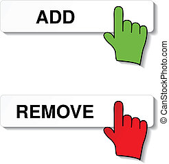 Vector add remove item with cursor of hand