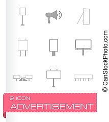 Vector advertisement icon set