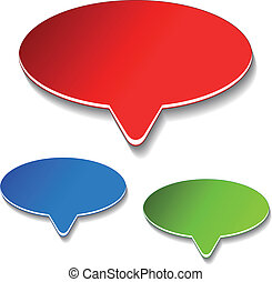 Vector advertisement labels