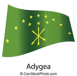 vector adygea flag isolated