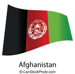 vector afghanistan flag isolated