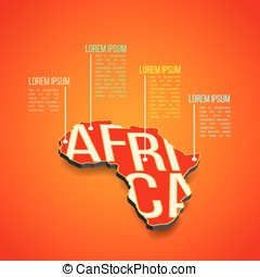 Vector africa infographics design. Africa map in perspective
