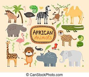 Vector african animals