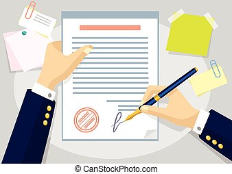 Vector agreement flat illustration