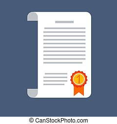 Vector agreement icon in flat style