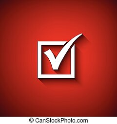 Vector agreement symbols on red background.