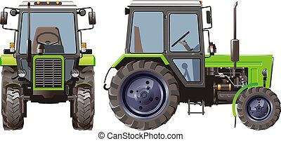 Vector Agricultural Tractor Available EPS-8 vector format ...
