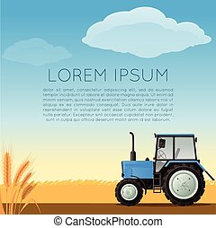 Vector agriculture banner