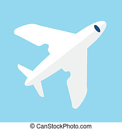 Vector Airplane Flat Icon