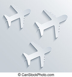 Vector airplane icon background. Eps10