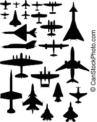 vector airplane icons eps8