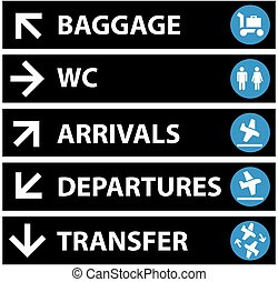 Vector Airport Signs