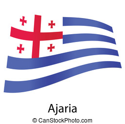 vector ajaria flag isolated