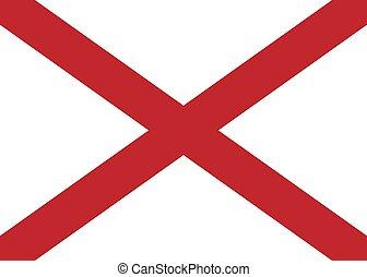 Vector Alabama flag