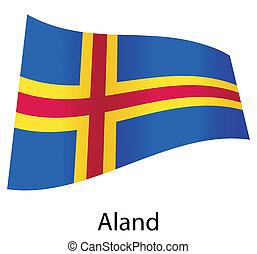 vector aland flag isolated